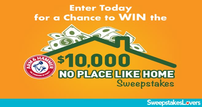 ARM & HAMMER $10,000 No Place Like Home Sweepstakes 2020