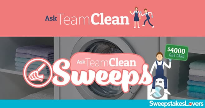Ask Team Clean Sweepstakes 2020