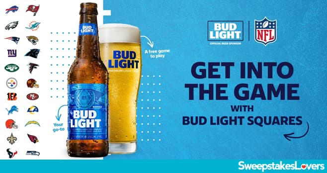 Bud Light NFL Squares Sweepstakes 2020