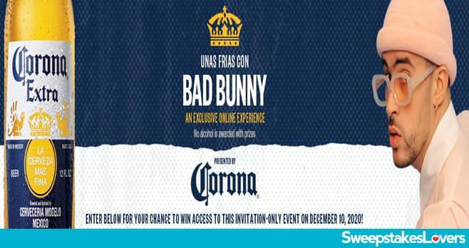 Corona Unas Frias Con Bad Bunny Sweepstakes 2020