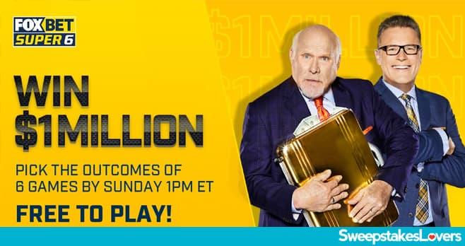 Fox Super 6 Million Dollar NFL Football Contest 2020