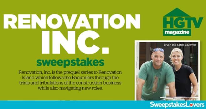 HGTV Renovation Sweepstakes 2020