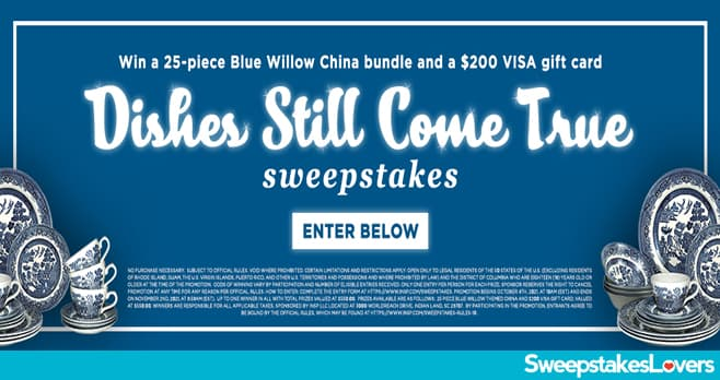 INSP.com Dishes Still Come True Sweepstakes 2021