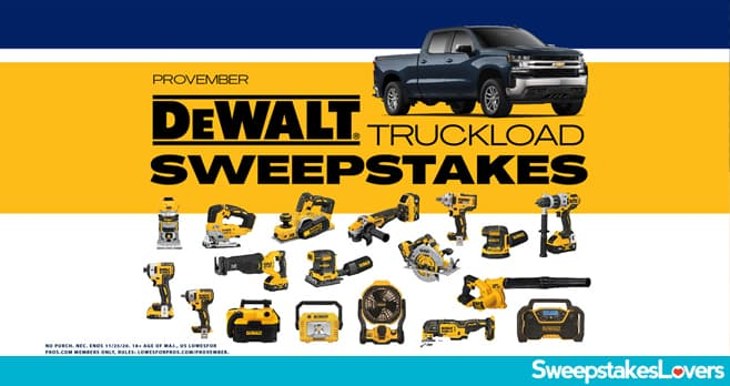 Lowes For Pros PROvember Sweepstakes 2020