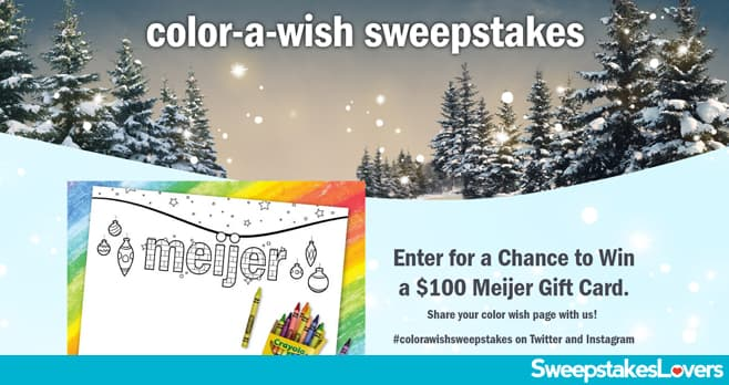 Meijer Color-A-Wish Sweepstakes 2020