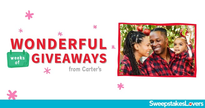 Carter's Holidays Wonderful Weeks of Giveaways 2020