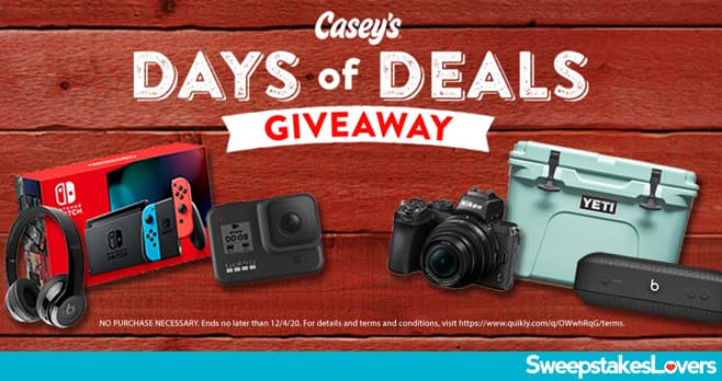 Casey's General Store Days of Deals Giveaway 2020