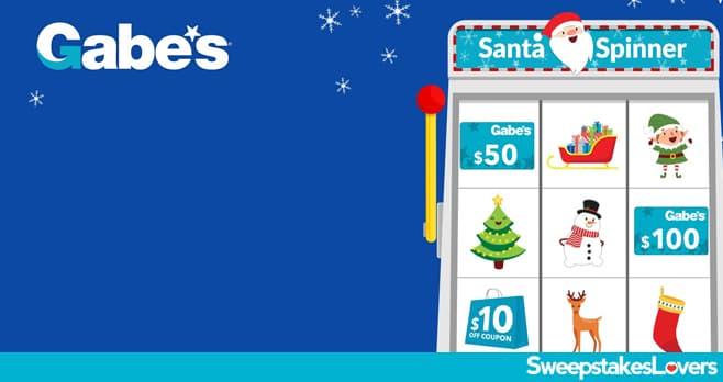 Gabe's Santa Spinner Instant Win Game 2020