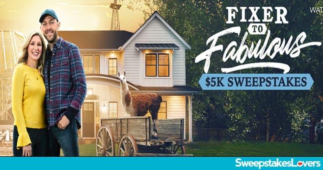 HGTV Fixer To Fabulous $5K Sweepstakes 2020