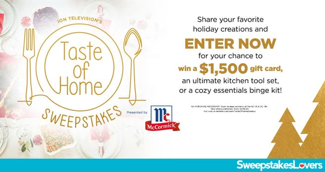 Ion Television Taste Of Home Holiday Sweepstakes 2020