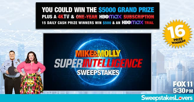 Mike And Molly Weeknights Super Intelligence Sweepstakes 2020