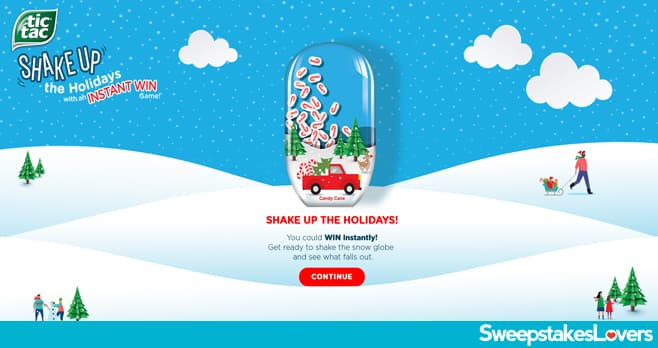 Tic Tac Shake Up the Holidays Instant Win Game 2020