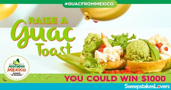 Avocados From Mexico New Year's Guac Toast Sweepstakes 2020