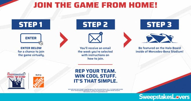 Chick-fil-A Peach Bowl Virtual Fan Section Sweepstakes 2020
