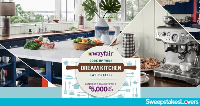 Food Network & Wayfair Cook Up Your Dream Kitchen Sweepstakes 2021 (FoodNetwork.com/YourDreamKitchen)