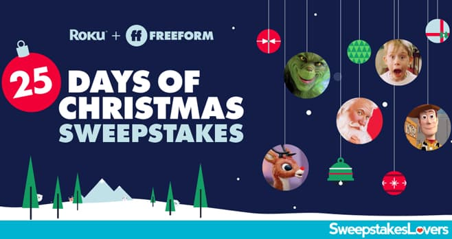 Freeform 25 Days of Gifts Sweepstakes 2020