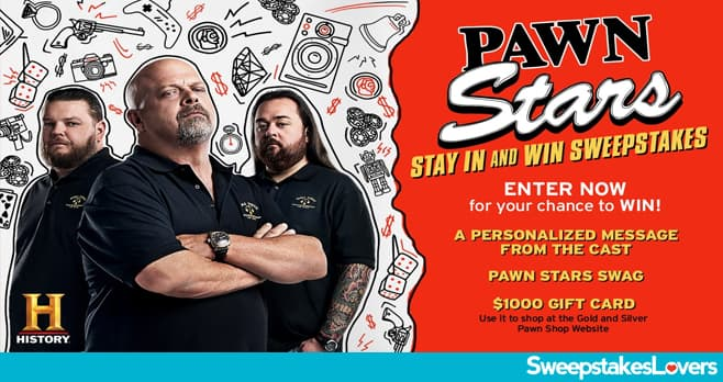 History Pawn Stars Sweepstakes 2020
