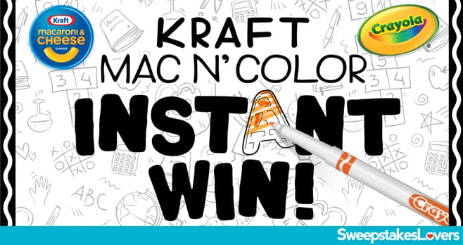 Kraft Mac N' Color Instant Win 2020