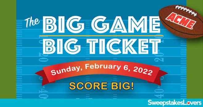 Acme Market Big Game Big Ticket Promotion 2021