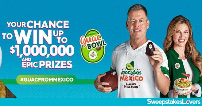 Avocados From Mexico Gameday Guac Bowl Sweepstakes 2021