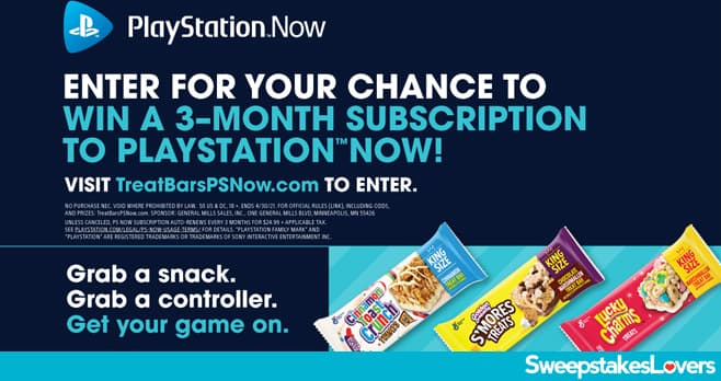 General Mills Treat Bars PlayStation Now Sweepstakes 2021