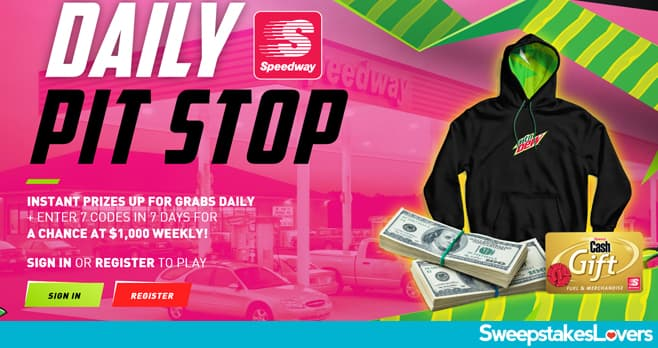 Mountain Dew Daily Pit Stop Instant Win Game & Sweepstakes 2021