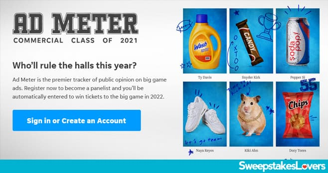 USA Today Ad Meter Sweepstakes 2021