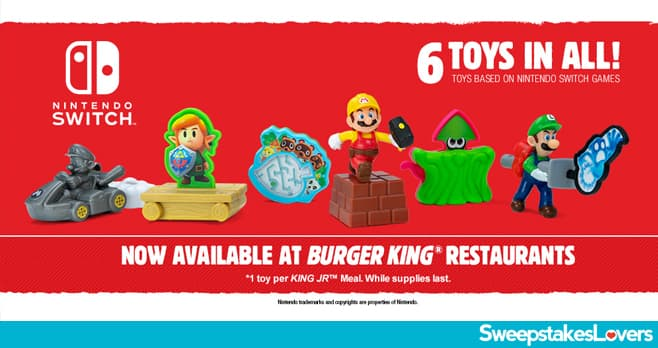 Burger King Nintendo Switch Giveaway 2021