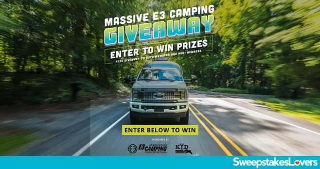 E3 Camping Giveaway 2021