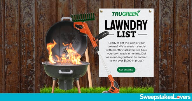 TruGreen Lawndry List Sweepstakes 2021