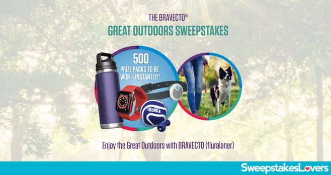 Bravecto Let's Play Great Outdoors Instant Win Sweepstakes 2021