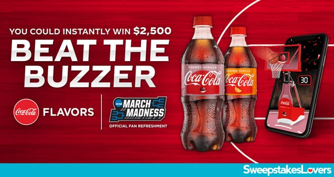 Coke Beat the Buzzer Sweepstakes & Instant Win Game 2021