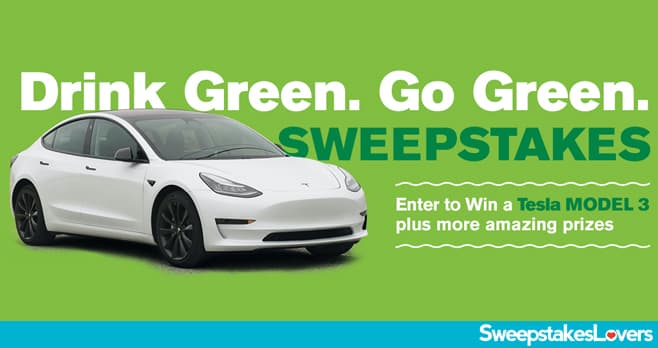 Drink Green Go Green Sweepstakes 2021