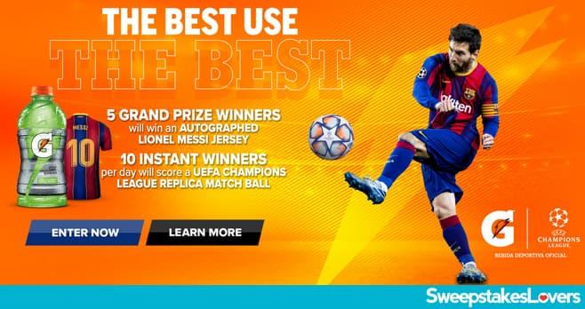 Gatorade UEFA Champions League Sweepstakes 2021