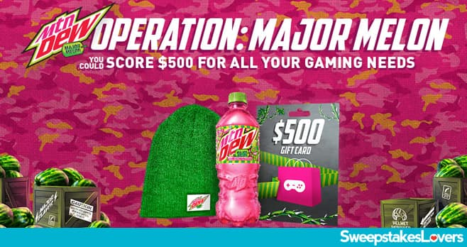 Mountain Dew Operation Major Melon Instant Win Game 2021