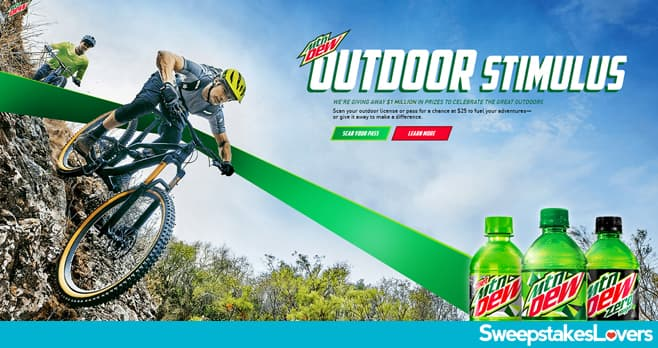 Mountain Dew Outdoor Stimulus Instant Win Game 2021