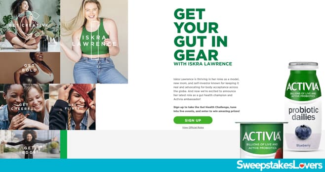 Activia Get Your Gut in Gear Sweepstakes 2021