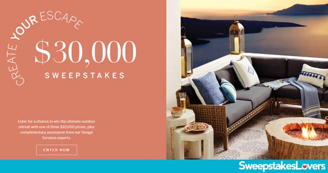 Frontgate Create Your Escape $30,000 Sweepstakes 2021