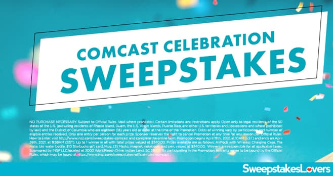 INSP.com Comcast Celebration Sweepstakes 2021