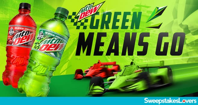Mountain Dew Green Means Go Sweepstakes 2021