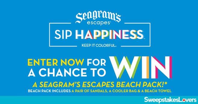 Seagram's Escapes Spring Break Beach Pack Sweepstakes 2021