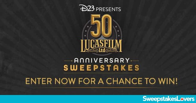 D23 Lucasfilm 50th Sweepstakes 2021