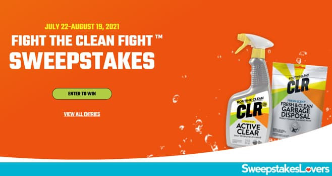 CLR Fight The Clean Fight Sweepstakes 2021