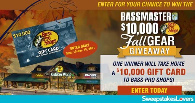 Bassmaster $10,000 Fall Gear Giveaway 2021