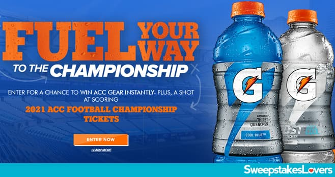 Gatorade Fuel Your Way To The Championship Instant Win Game & Sweepstakes 2021