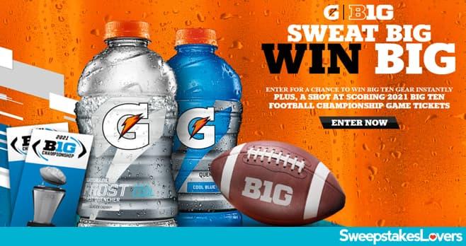Gatorade Sweat Big. Win Big. Instant Win Game & Sweepstakes 2021