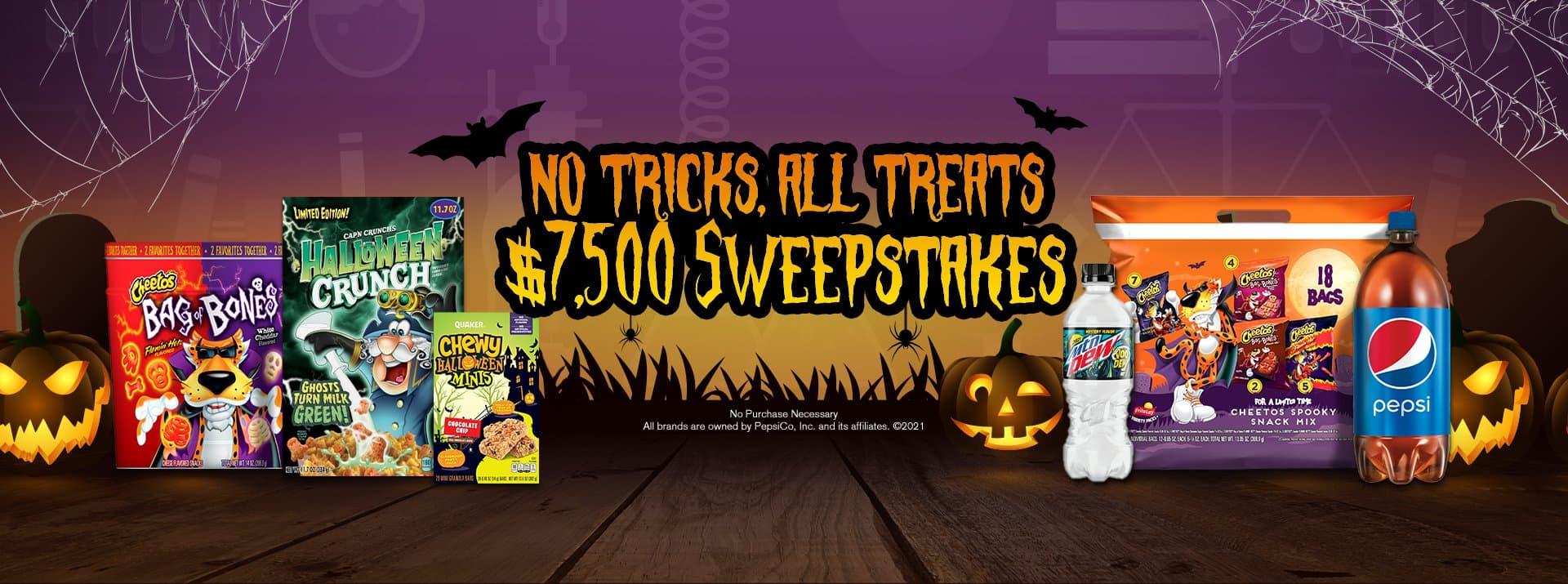 Tasty Rewards No Tricks, All Treats Sweepstakes 2021