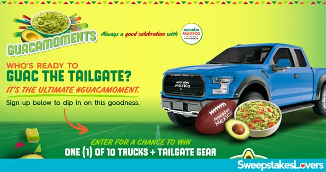 Avocados From Mexico Guac the Tailgate Sweepstakes 2021