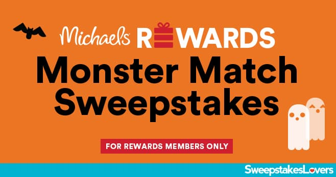 Michaels Rewards Monster Match Sweepstakes 2021